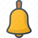 alarm, bell, education, lesson, ring, school icon