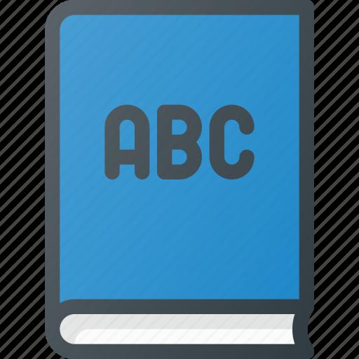 alphabet, book, education, language, school, studying icon