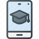 course, elearning, knowledge, learning, mobil, video icon