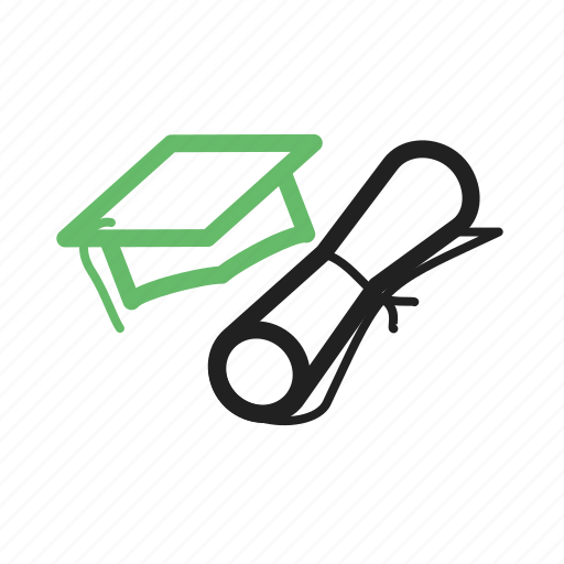 cap, college, diploma, education, graduation, students, university icon