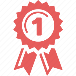 achievement, award, best, education, first place, school ribbon, winner icon