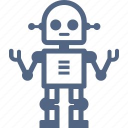 automaton, education, machine, project, robot, science, technology icon