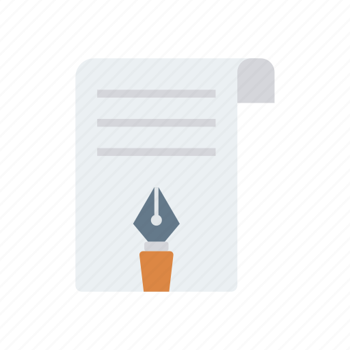 Document, page, paper, pen icon - Download on Iconfinder