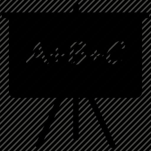 abc, board, classroom, school icon icon