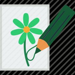 art, design, drawing, education, pencil, school icon