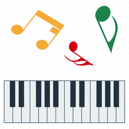 design, education, keyboard, music, note, school icon