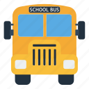 bus, children, design, education, school, yellow icon