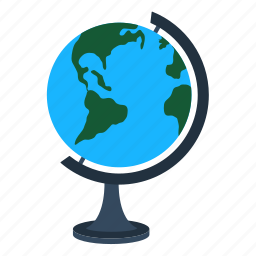 design, earth, education, geography, globe, school icon