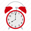 alarm, clock, design, education, school, wake up icon
