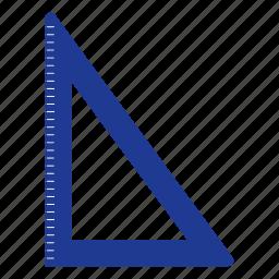 design, education, geometry, scale, school, triangle icon