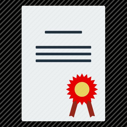 certificate, design, diploma, education, graduation, school icon