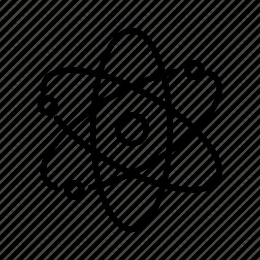 atom, atomic, bio, biotechnology, school, science, technology icon