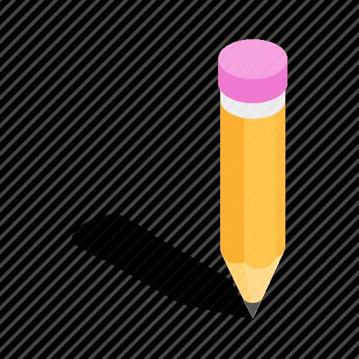 art, drawing, equipment, isometric, pencil, school, tool icon