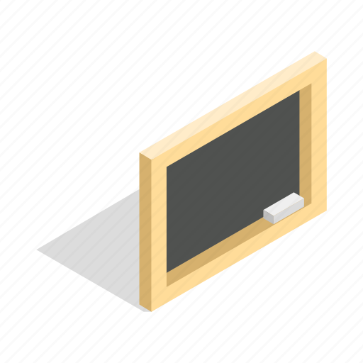 board, chalk, classroom, education, isometric, school, wooden icon