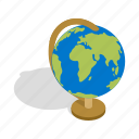 earth, global, globe, isometric, map, planet, world icon