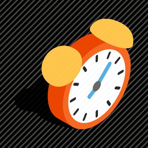 alarm, clock, isometric, minute, time, timer, wake icon