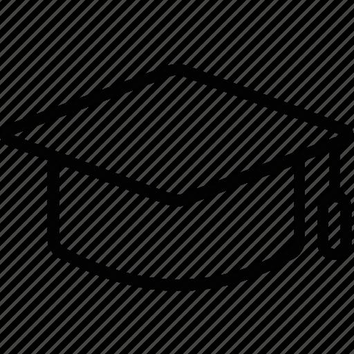 books, school, student, student hat, university icon