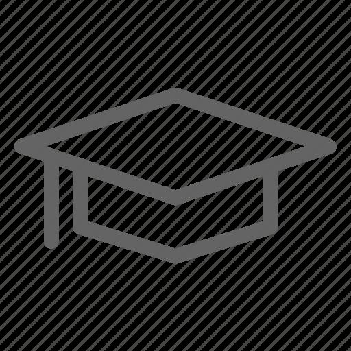 cap, education, graduation, mortarboard icon