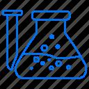 beaker, education, flask, school icon