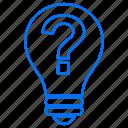 bulb, education, idea, mark, question, school