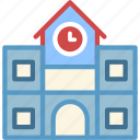 building, highschool, education, college, university icon
