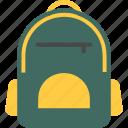 bag, school, backpack, pack, hiking, camping, schoolbag icon