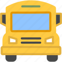 bus, school, transport, transportation, travel, vehicle icon