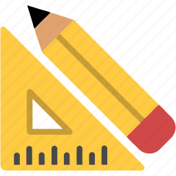 design, draw, measurement, pencil, ruler, tools icon