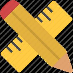design, draw, graphic, measurement, pencil, ruler, tools icon