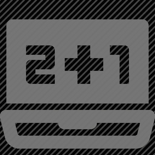 computer, device, laptop, math, mathematics icon