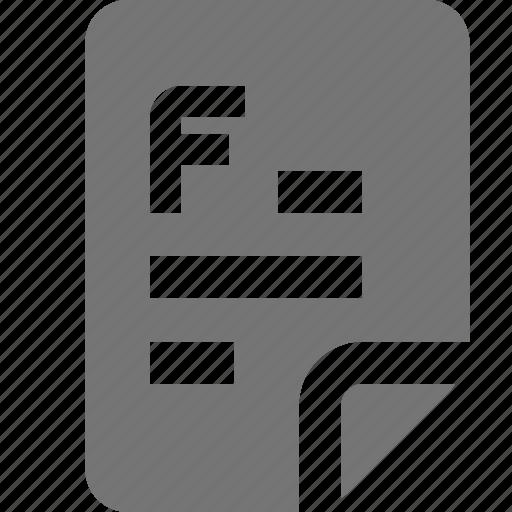 f grade, fail, grade icon