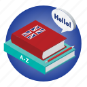 book, english, language, school, subject icon