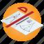 compasses, education, geometry, mathematics, protractor, school, subject icon