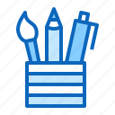 pen, school, stationery, study, supplies, tool icon