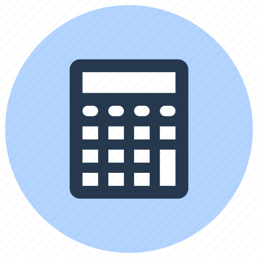 accounting, calculator, math, office, school, stationery icon