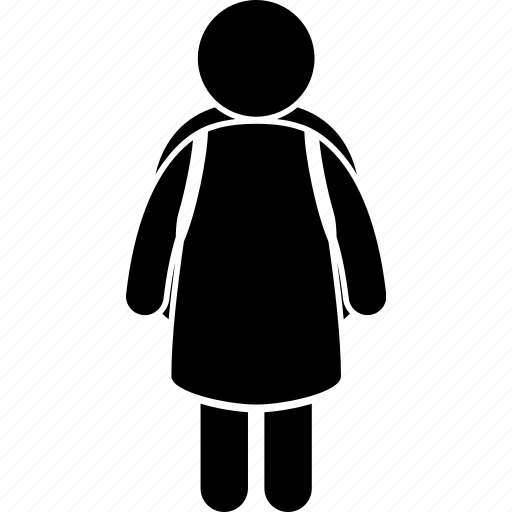 child, children, female, girl, pupil, student, young icon