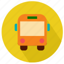 bus, college, school, student, transport icon
