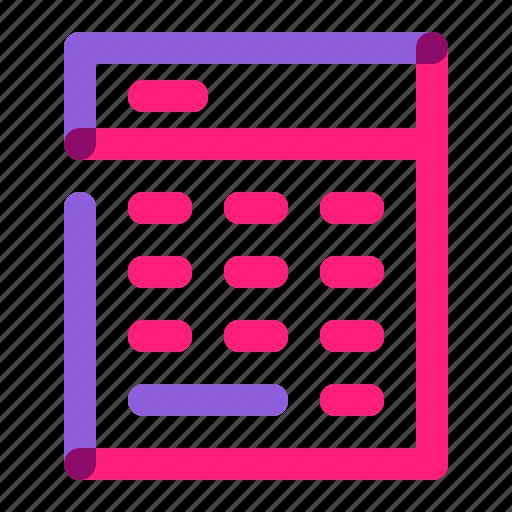 calculator, device, digital, gadget, school, technology, tools icon