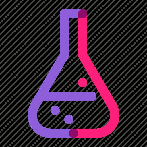 chemistry, equipment, erlenmeyer, laboratory, school, tools, tube icon