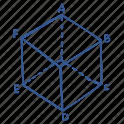cube, geometry, math, polygon icon