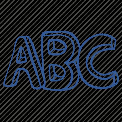 abc, alphabet, letters, script icon