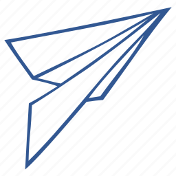 airplane, origami, paper, paper plane icon