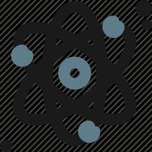 atom, electron, neutron, physics, proton icon