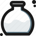 bottom, create, experiment, flask, laboratory, measure, test icon