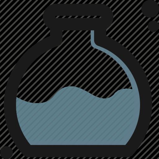 bottom, create, experiment, flask, laboratory, measure, test icon