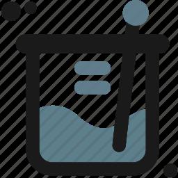 create, design, experimental, flask, laboratory, measure icon