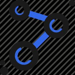 atom, connect, molecule icon