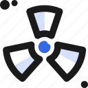 chemical, contamination, hazardous, nuclear, substance icon