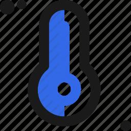 cold, hot, measure, temperature, thermometer, weather icon