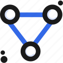connect, molecule, structure icon